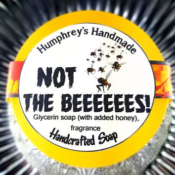 NOT THE BEEEEES Honey Soap | Shave Soap | Body Bar | Honeycomb Scent