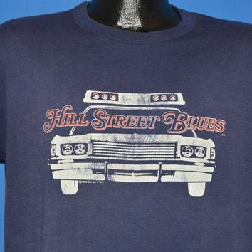80s Hill Street Blues Police Car t-shirt Large