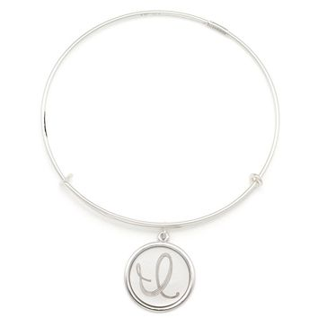 Alex and Ani Precious Initial I Charm Bangle - Argentium Silver