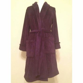 Charter Club Women's Supersoft Plush Robe 821130 Deep Concord Large