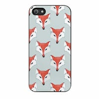 fox pattern on iphone 5 5s 4 4s 5c 6 6s plus cases