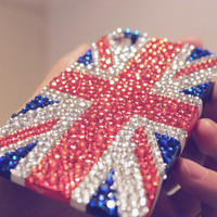 UK Flag Rhinestone iPhone Case