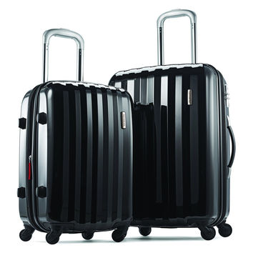 "Samsonite Prism Two-Piece Hardside Spinner Set (20""/24"") Black One Size"