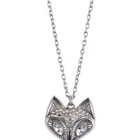 Shine Fox Long-Strand Necklace