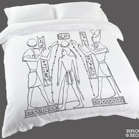 Egyptian Hieroglyphics Duvet Cover | Egyptian Duvet Cover