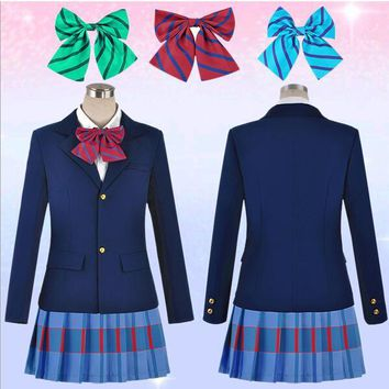 Love Live Cosplay  School Uniform Jacket+Skirt + Bow Tie