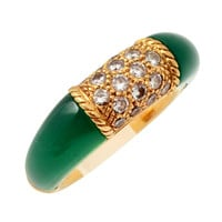 Van Cleef and Arpels Philippine Ring with Green Agate