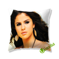 Beautifull Selena Gomez Square Pillow Cover