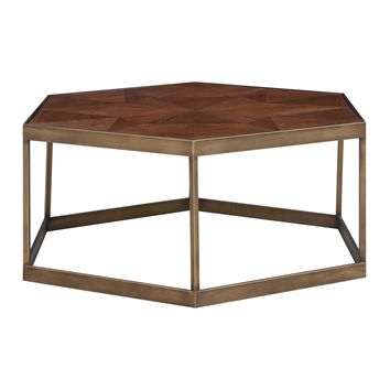Dax Hexagon Coffee Table Walnut