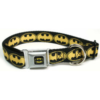 Walmart: Buckle Down Inc DC-WBM020-M Medium Black and Yellow Batman Dog Collar