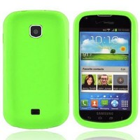 CoverON® Soft Silicone NEON GREEN Skin Cover Case with for SAMSUNG I200 GALAXY STELLAR VERIZON [WCP85]