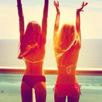 beach, beautiful, cute, friends - inspiring picture on Favim.com