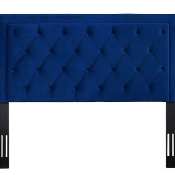 Nacht King Headboard in Navy Velvet