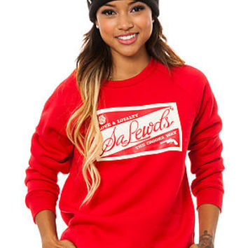 Crooks and Castles Crewneck Salewds in Red