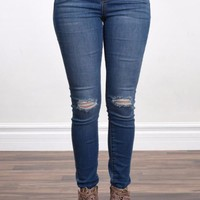 Serenity Skinny Distressed Jeans