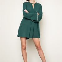 Christmas Green Trapeze Dress