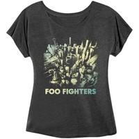 Foo Fighters  Sonic Highways Girls Jr Heather Charcoal