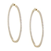 Pave Thin Hoops