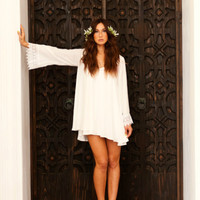 Show Me Your Mumu White Portabella Dress