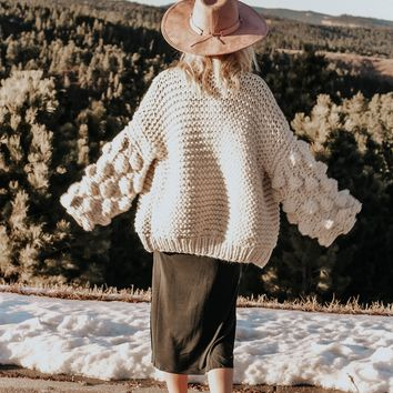 Bubble Sweater Ivory