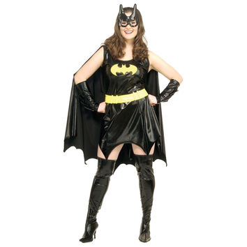 Hot Sale Sexy Black Batman Costume Adult Batgirl Halloween Costumes for Women Sexy Superhero Cosplay Mask Cape Outfits W36853
