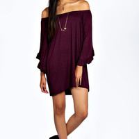 Kimberley Flute Sleeve Shift Dress