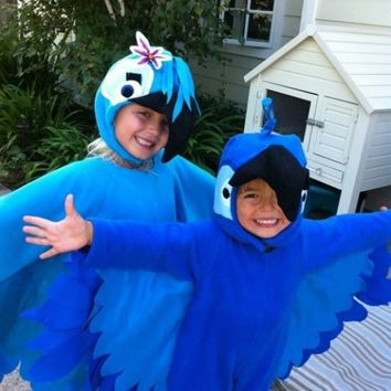 Custom Made Child Blue The Macaw Bird From Rio Halloween Costume sz 1-7 | PrecisionStitching - Clothing on ArtFire