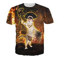 Flamethrower Kitty T-Shirt