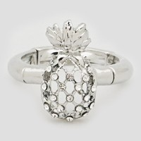 Silver Pineapple Stretch Ring