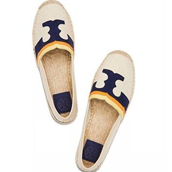 Tory Burch Laguna Flat Espadrille Natural Multicolour