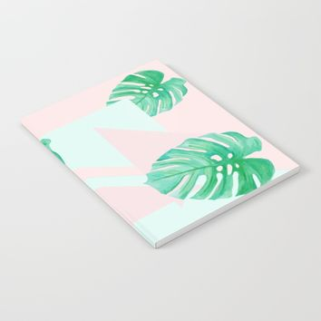 Pastel Palm Notebook by Vanora Designs