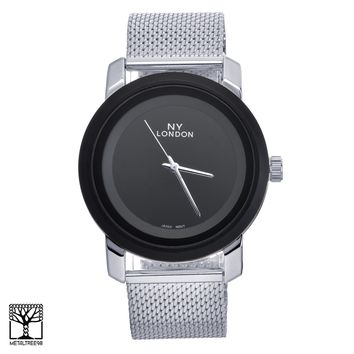 Jewelry Kay style Men's Women's Luxury Fashion Silver Plated Metal Mesh Band Watches WM 15095 S