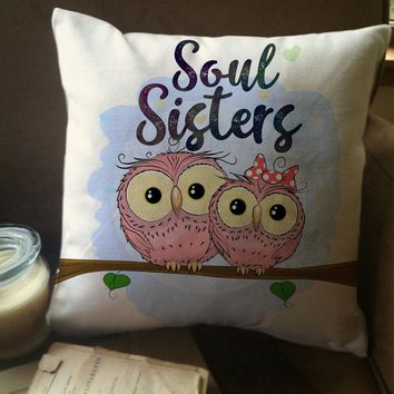 Soul Sisters Owl Pillow Covers