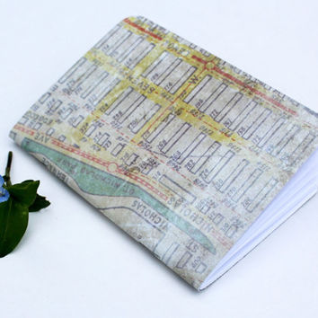 Vintage Street Map Traveler's Notebook Journal Stationary Planner Insert Blank Pages Sketchbook