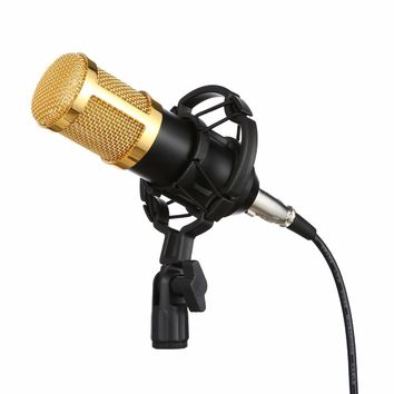 2017 Stylish BM 800 Condenser Wired Recording Microphone Sound Studio with Shock Mount for Recording Kit KTV Karaoke