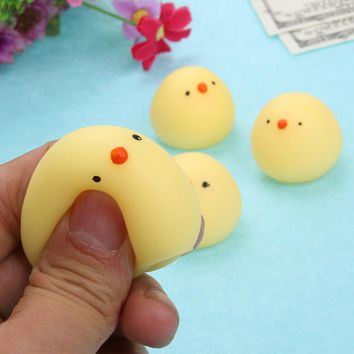 Cute Mini Squeeze Squishy Animal Doll Toy Lovely Cartoon Squishies Stretchy Animal Chicken Panda Bear Healing Stress Doll Toy