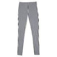 Striped Slim High-Waist Pants