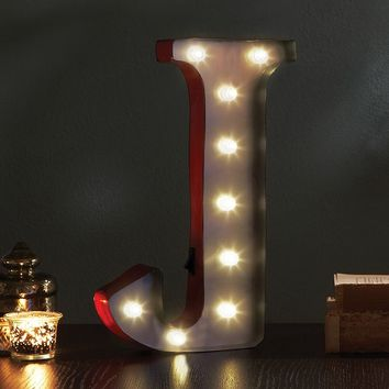 Apothecary ''J'' LED Marquee Sign Decor