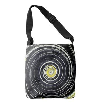 Black hole texture crossbody bag