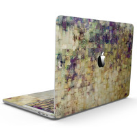 Grungy Abstract Purple Mosaic - MacBook Pro with Touch Bar Skin Kit