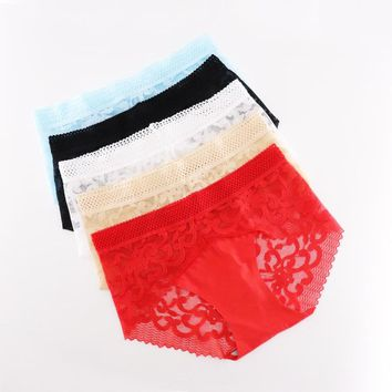 Sexy Lace Seamless Panties For Women Underwear Solid Lingerie Mid-Waist Cotton Panty Female Briefs Underwear Underpants