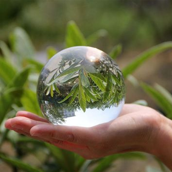 80mm 90mm 100mm Huge Clear Asian Quartz Crystal Ball Sphere Fengshui Glass Ball Crafts Home Decoration Wedding Party Souvenir