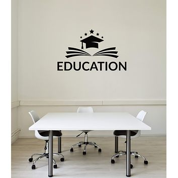 Vinyl Wall Decal Education Book School University Decor Interior Stickers Mural (ig5881)