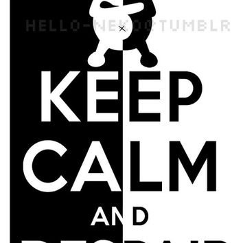 Keep Calm - Dangan Ronpa Monobear poster
