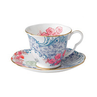 Wedgwood Harlequin Butterfly Bloom Blue Peony Cup and Saucer (Set of 2)