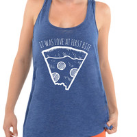 It Was Love At First Bite -Oversized Racerback Tank
