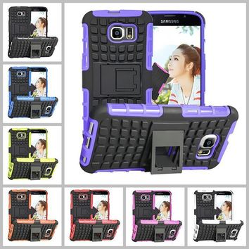 Samsung Galaxy S3 S4 S5 S6 S7 Heavy Duty Armor Phone Case Cover with Stand