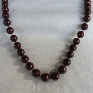 SARAH COVENTRY Brown Beaded Necklace