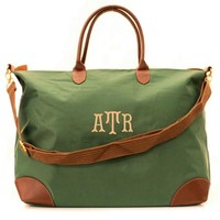 Personalized Olive Green Longchamp Style Weekender Carry On Bag 25% Off $39.95 Now Only $29.95 While Supplies Last