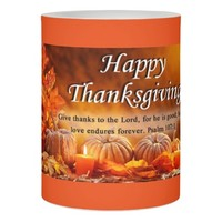 Thanksgiving LED Candle/Give Thanks to the Lord Flameless Candle